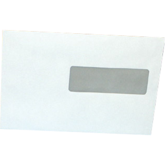 Envelope, Window envelope, 220x156mm, right , strip, white 1