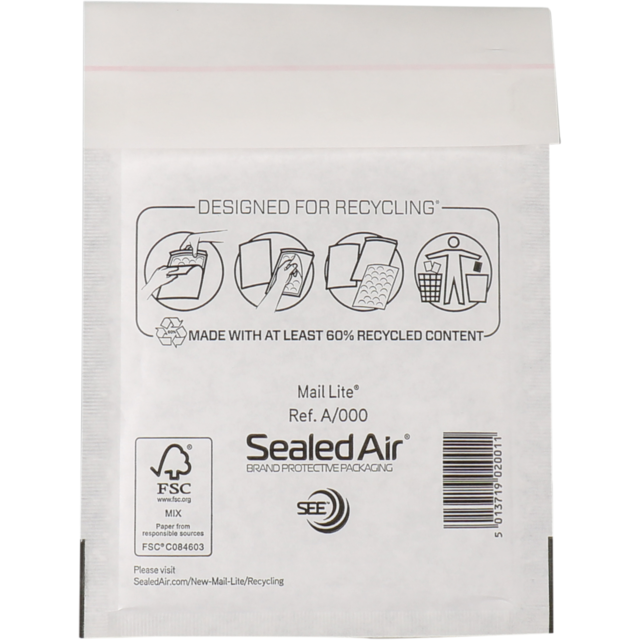 Envelope, Bubble-padded envelopes, 160x110mm, white 1