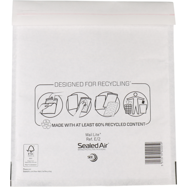 Envelope, Bubble-padded envelopes, 260x220mm, white 1