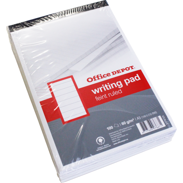 Office Depot Notebook, Paper, Lined, A5, 148x210mm,  1