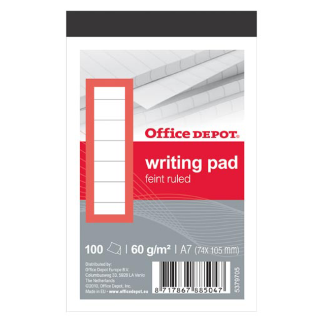 Office Depot Notebook, Paper, Lined, A7, 74x105mm,  1