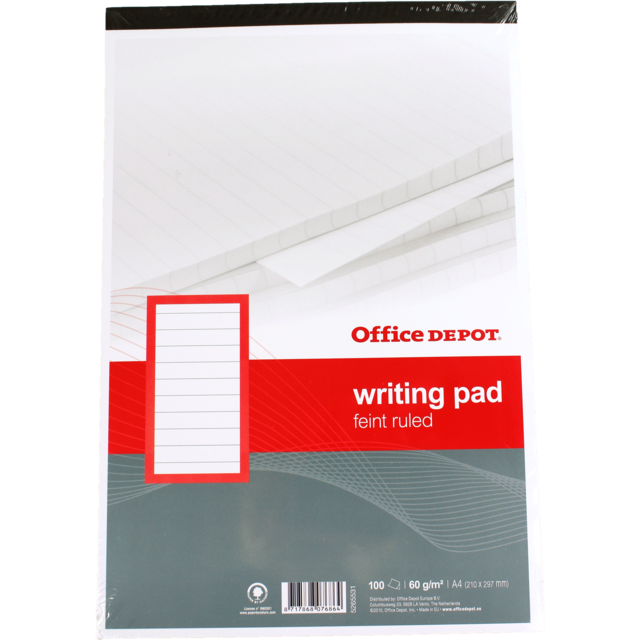 Office Depot Notebook, Paper, Lined, A4, 210x297mm,  1