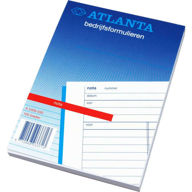 Atlanta Notebook, Receipt pads, Paper, 105x148mm,  1