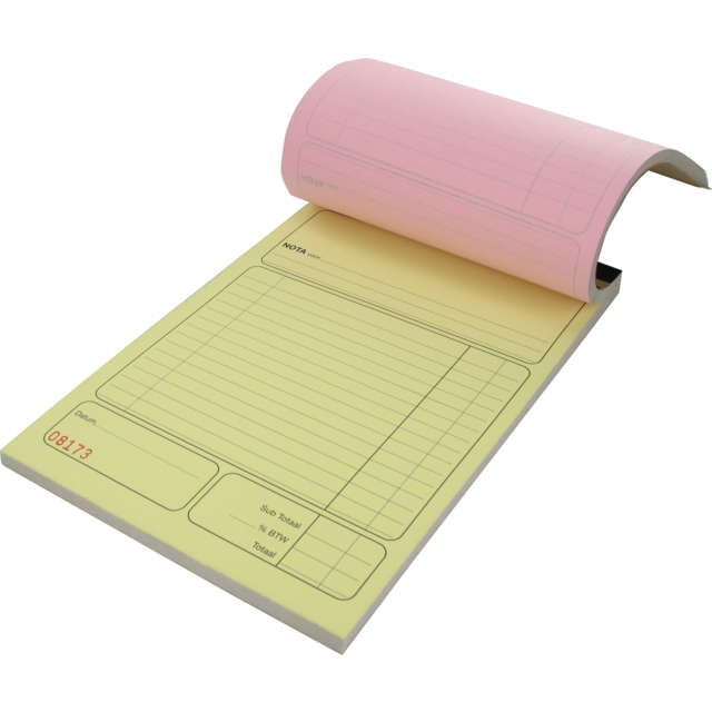 Notebook, Receipt pads, Paper, 3-fold copies, 140x210mm,  1