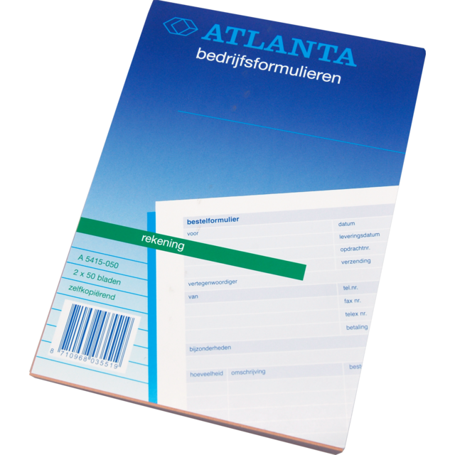 Atlanta Notebook, Account book, Paper, Self copying, 148x210mm,  1