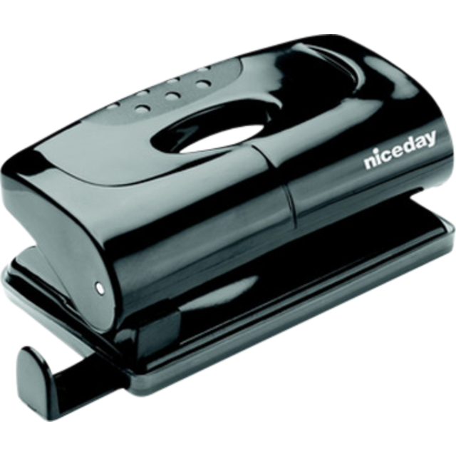 Perforator Niceday, Plastic, 2 holes, Black. 1