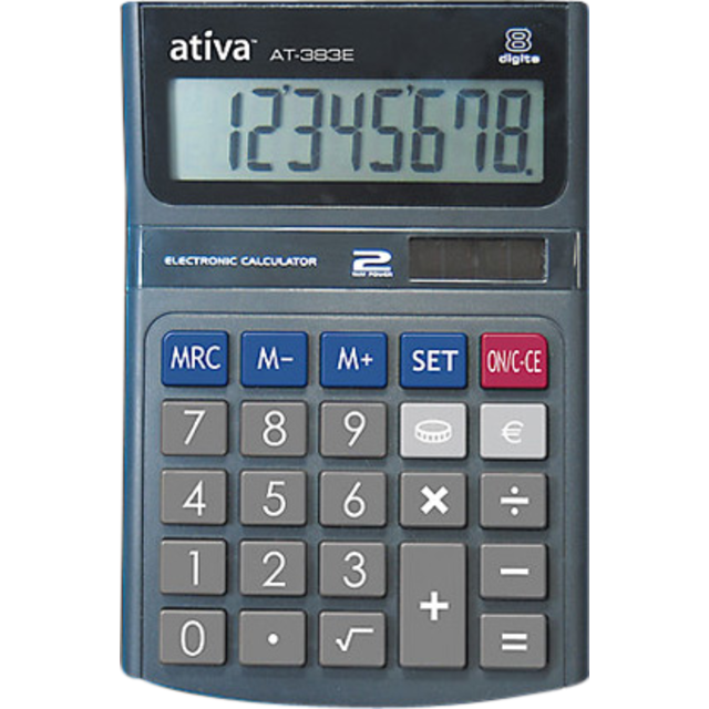 Ativa Calculatrice de bureau, Plastique. 1