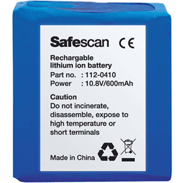 Safescan® Battery, type: LB-105, Oplaadbaar,10,8v 1