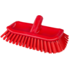 Qleaniq® Scrubbing brush, hoekschrobber, red