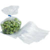 Bag, Side fold bag, LDPE, 10/2.5x25cm, 20my, transparent