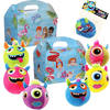 Kidsbox, Karton, Poolparty, met pluche monsterbal, 150x214x115mm