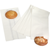 Bread and pastry bag, Paper, 14/8x30.5cm, white