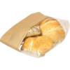 Bread and pastry bag, Paper+kst, 16/5x34cm, brown