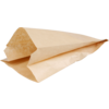 Bread and pastry bag, Kraft paper, 16/10x34cm, brown
