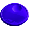 Lid, round, 30x343x343mm, purple