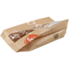 Bag, Bread and pastry bag, Paper, 16/10x34cm, Delicious, brown
