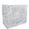 Bag, Pubchalk, Paper, Flat paper handles, 32x 17x27cm, snack carrier bag , white/Grey