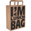 I'M a Concept Bag, Pulp, flat paper handles, 22x10x28cm, paper carrier bag, brown