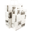 Bag, Le journal, Wit kraft, twisted-paper cord, 32x12x41cm, carrier bag, white