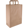 Bag, Pulp, flat paper handles, 26x12x35cm, carrier bag, brown