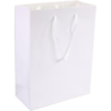 Bag, Art paper, deluxe bag with cord, 16x8x19cm, carrier bag, white