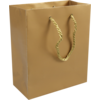 Bag, Art paper, deluxe bag with cord, 16x8x19cm, carrier bag, gold