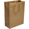 Bag, Art paper, deluxe bag with cord, 22x10x29cm, carrier bag, gold