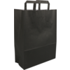 Bag, Wit kraft, Flat paper handles, 26x12x35cm, paper carrier bag, black