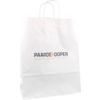 Bag, Your own printing, 1 zijde, Kraft paper, Twisted-paper cord, 32x12x41cm, carrier bag, white