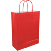 Bag, Paper, Twisted-paper cord, 22x 10x31cm, paper carrier bag, red