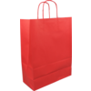 Bag, Paper, Twisted-paper cord, 26x 12x35cm, paper carrier bag, red