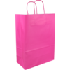 Bag, Paper, Twisted-paper cord, 26x 12x35cm, paper carrier bag, pink