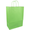 Bag, Paper, Twisted-paper cord, 26xSide fold 12x35cm, paper carrier bag, green