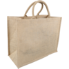 Bag, Jute, gelamineerd, 43x20x34cm, carrier bag, brown