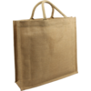 Bag, Jute, gelamineerd, 45x12x40cm, carrier bag, brown