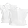 Bag, LDPE, Loop, 55x50cm, bottom pleat 10cm, loop handled carrier bag, white