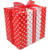 LOVLY® Gift-wrapping paper, 30cm, 200m, 70gr/m², Hearts, white/Red
