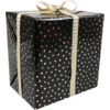 LOVLY® Gift-wrapping paper, 30cm, 200m, Party dots, black/Gold