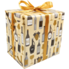 Gift-wrapping paper, 50cm, 200m, Wine pattern, 644,