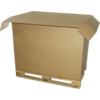 Pallet box, Corrugated cardboard, 1180x780x790mm, 1 side flap, brown