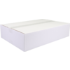 American folding box, Corrugated cardboard, 420x300x95mm, single corrugation, white