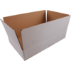 American folding box, Corrugated cardboard, 400x300x215mm, single corrugation, PFC, white