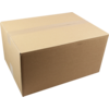 SendProof® American folding box, Corrugated cardboard, 430x310x220mm, single corrugation, brown