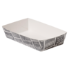 Container, Cardboard and coating, snack box, 155x85x38mm, white/Grey