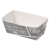 Container, Cardboard and coating, saus cup, 70x30x35mm, white/Grey