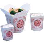 Container, Cardboard, 460ml, asian meal container, 82x70x95mm, white