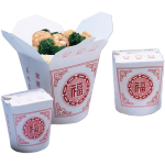 Container, Cardboard, 750ml, asian meal container, 98x92x95mm, white