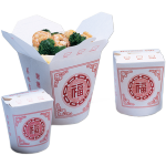 Container, Cardboard, 920ml, asian meal container, 103x96x115mm, white