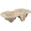 Cup carrier, Cardboard, 2 compartment, 85mm, grey