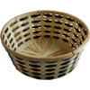 Basket, Wicker, Ø32cm, 12cm, naturel/Black